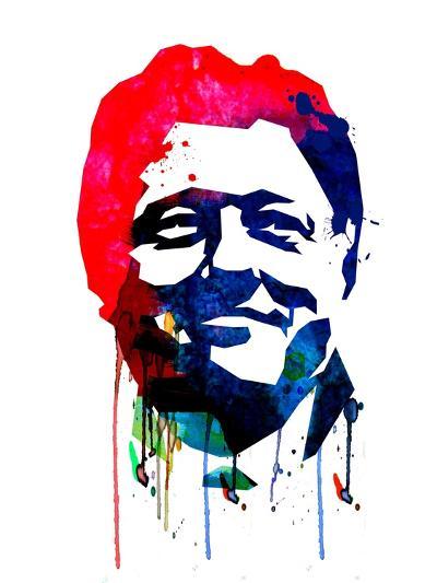 Bill Clinton Watercolor-Lora Feldman-Art Print