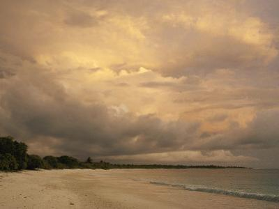 A Scenic View of a Beach at Twilight