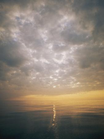 Scenic View of Sky, Sea and Horizon