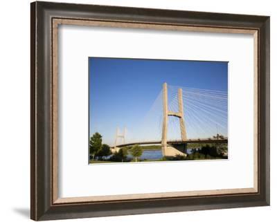 Bill Emerson Memorial Bridge over Mississippi River, Cape Girardeau, Missouri.-Richard & Susan Day-Framed Photographic Print