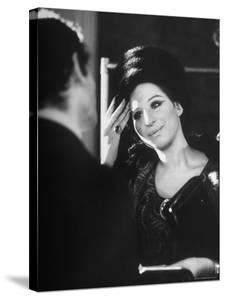 Barbra Streisand at Recording Session by Bill Eppridge