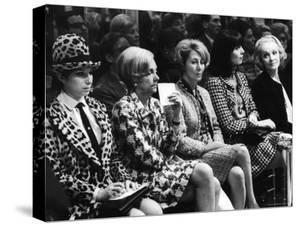 Barbra Streisand, Marlene Dietrich, Elsa Martinelli, Wearing Chanel Suits at Chanel Fashion Show by Bill Eppridge