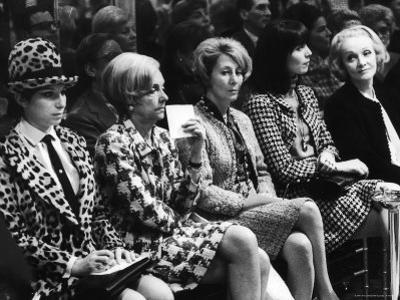 Barbra Streisand, Marlene Dietrich, Elsa Martinelli, Wearing Chanel Suits at Chanel Fashion Show