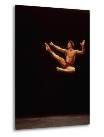 "Dancer Edward Villella Leaping Through Air in Performance of George Balanchine's ""The Prodigal Son"""