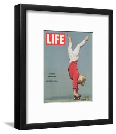 Girl Doing Handstand on Skateboard, May 14, 1965
