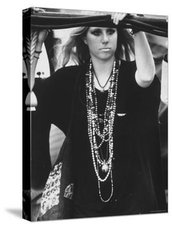 Hippie Girl at Woodstock Music Festival