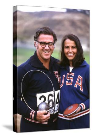 Olympic Athletes Harold Connolly and His Wife Olga in Los Angeles Pre-Olympics 1972