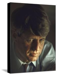Pensive Portrait of Presidential Contender Bobby Kennedy During Campaign by Bill Eppridge