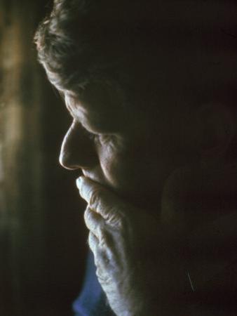 Pensive Portrait of Robert F. Kennedy by Bill Eppridge