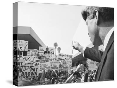 Robert F. Kennedy Giving a Campaign Speech