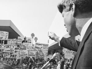 Robert F. Kennedy Giving a Campaign Speech by Bill Eppridge