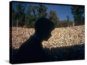 Robert F. Kennedy Speaking in Greek Amphitheater by Bill Eppridge