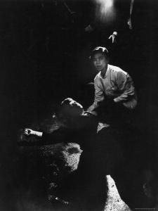 Sen. Robert Kennedy Sprawled Semiconscious in Own Blood on Floor After Being Shot in Brain and Neck by Bill Eppridge