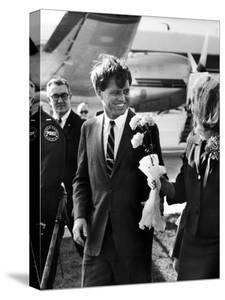 Senator Robert F. Kennedy at Airport During Campaign Trip to Help Election of Local Democrats by Bill Eppridge