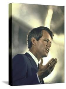 Senator Robert Kennedy on Campaign Trail During Presidential Primary Season by Bill Eppridge