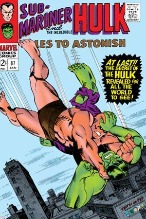 Tales to Astonish No.87 Cover: Hulk and Humanoid by Bill Everett