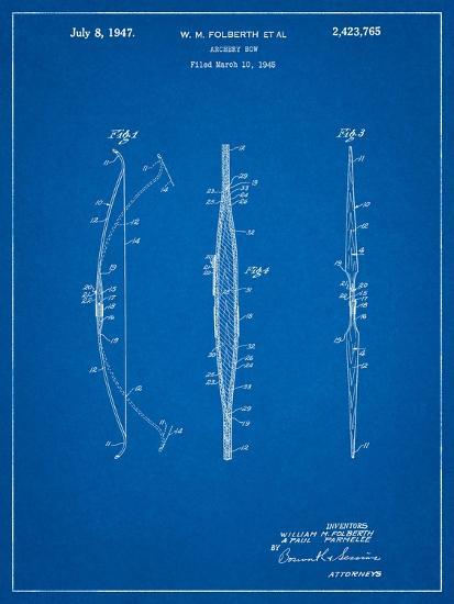 Bill Folberth Archery Bow Patent-Cole Borders-Art Print