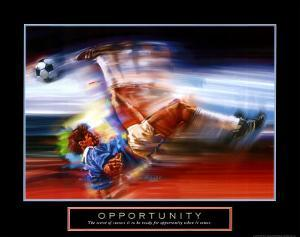 Opportunity: Soccer by Bill Hall