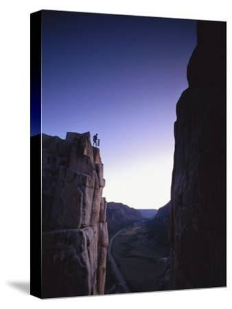 Climber at Unaweep Canyon, Colorado