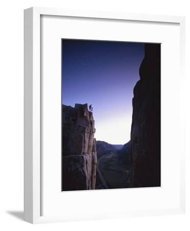 Climber at Unaweep Canyon, Colorado
