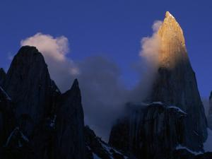 Clouds Blowing Off the Peaks of the Great Trango Tower by Bill Hatcher
