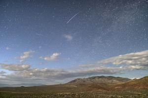 Night Sky with a Falling Star Seen Above Highway 395 on the Extraterrestrial Highway by Bill Hatcher