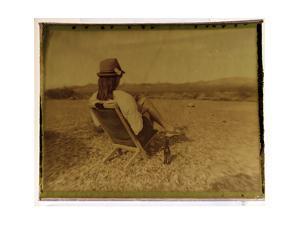 Polaroid Transfer Portrait of a Woman in Death Valley National Park, California by Bill Hatcher