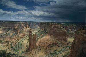 Scenic view of the canyon and Spider Rock. by Bill Hatcher