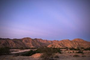 Sunrise on Mountains West of the Laguna Grande Restoration Project Along the Colorado River Delta by Bill Hatcher