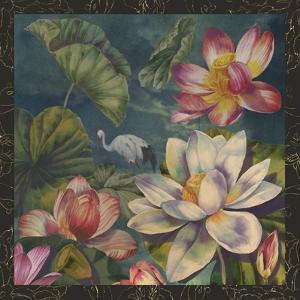 Lotus and Crane by Bill Jackson
