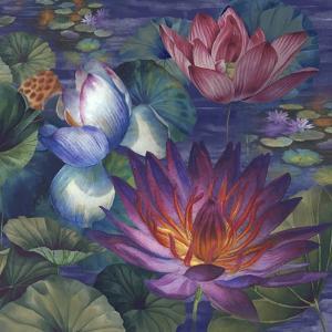 Moonlit Lily Pond by Bill Jackson