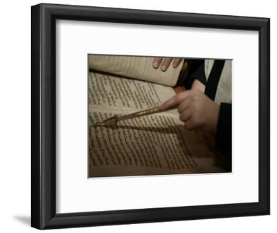 Boy Reading from Torah at Bar Mitzvah
