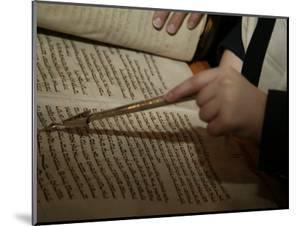 Boy Reading from Torah at Bar Mitzvah by Bill Keefrey