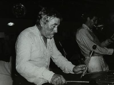 Bill Le Sage Playing the Vibraphone at the Bell, Codicote, Hertfordshire, 12 September 1982-Denis Williams-Photographic Print
