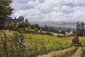 Tractor At Little Eaton by Bill Makinson