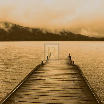 Jetty and Loch by Bill Philip