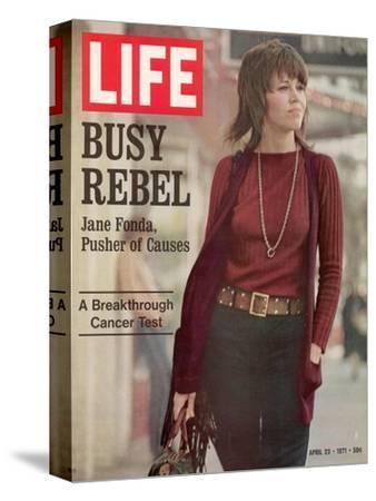 Actress Jane Fonda, April 23, 1971