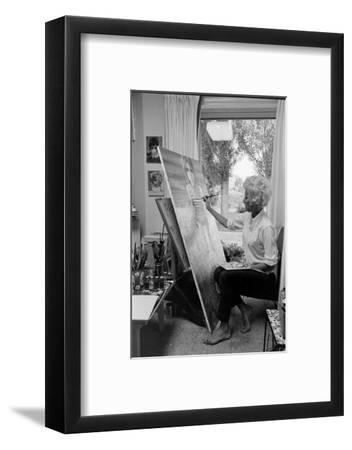 American Artist Margaret Keane Painting in Her Studio, Tennessee, 1965