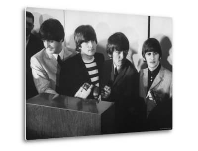 Beatles' at Press Conference in San Francisco Airport by Bill Ray