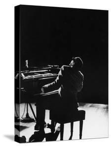 Blind Singer and Jazz Pianist Ray Charles Performing in Concert at Carnegie Hall by Bill Ray