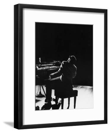 Blind Singer and Jazz Pianist Ray Charles Performing in Concert at Carnegie Hall