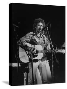 Bob Dylan during Rock Concert at Madison Square Garden by Bill Ray