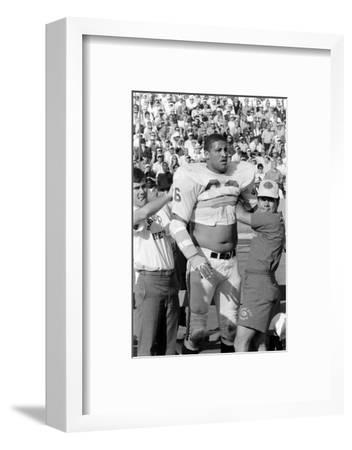 Buck Buchanan in Locker-Room, Superbowl I, Los Angeles, California, January 15, 1967