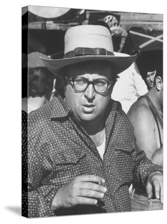 """Director Sergio Leone on Location in Almeria, Spain Filming """"Once Upon a Time in the West."""""""