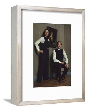 French Fashion Designer Bernard Lanvin and His Wife, Meryl, Louvre, Paris, France, 1968