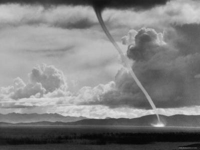 Funnel Cloud of a Tornado High in the Andes Mountains by Bill Ray