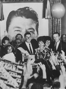 Gov. Ronald Reagan and Wife and Lt. Gov. Robert Finch and Wife at Election Victory Party by Bill Ray