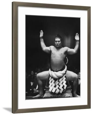 Grand Champion Sumo Wrestler, Taiho Performing Ring Ceremony Before Match