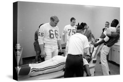 Kansas City Chiefs Football Team Players Massaged before the Championship Game, January 15, 1967