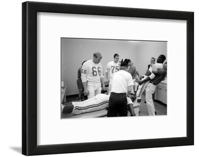 Kansas City Chiefs Football Team Players Massaged before the Championship Game, January 15, 1967